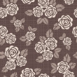 Seamless vector background with roses — Stock Photo