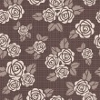 Seamless vector background with roses — Stock Photo #9846210