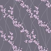 Vector seamless pattern with sakura branch — Stock Photo
