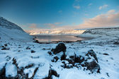 Winter Fjord, North Iceland — Stock Photo