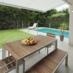 Modern backyard — Stock Photo #8593445