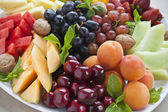 Summer fruit platter — Stock Photo