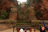 гигантский будда лэшань с молитвы китай — Стоковое фото