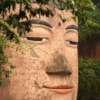 The Giant Buddha of Leshan with praying- China - 图库照片
