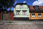Casas suecas en el centro de Estocolmo, Suecia — Foto de Stock