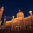 Omar Ali Saifuddin Mosque at night in Bandar Seri Begawan, Brunei Darusalam — Foto Stock #8060312