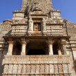 HINDU TEMPLE IN THE FORTRESS OF CHITTORGARH, RAJASTHAN, INDIA — Stock Photo