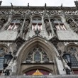 A close up of the Medieval town hall of Middelburg (The Netherlands) - Stock Photo