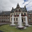 SINT JORIS DOELEN - OLD BUILDING WITH FOUNTAIN IN MIDDELBURG, HOLLAND - Stock Photo