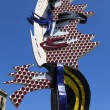 Statue Barcelona Head by Roy Lichtenstein in Barcelona, Spain — Stock Photo