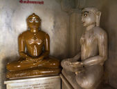 BUDDHAS IN ADINATHA TEMPLE - A JAIN TEMPLE IN RANAKPUR (RAJASTHAN - INDIA) — Stock Photo