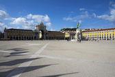 プラカはリスボン、ポルトガルでコマーシオ広場 — ストック写真