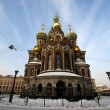 Russian church: Our Savior on the Spilled Blood in St. Petersburg — Stock Photo #8298844