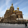 Russian church: Our Savior on the Spilled Blood in St. Petersburg — Stock Photo #8298856