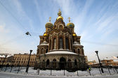 Russian church: Our Savior on the Spilled Blood in St. Petersburg — Stock Photo