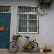 Chinese house with bike in Shanghai - China - Stock Photo