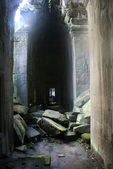 Angkor - Inside the ruins of the Ta Prohm monastery - Archeological site An — Stock Photo