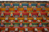 PAINTED COLORFUL ROOF OF THE SONG ZAN LI TEMPLE IN SHANGRI-LA (YUNNAN - CHI — Stock Photo