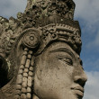 Statue of a female Hindu God in Klungkung palace in Bali Indonesi - Stock Photo