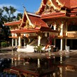 Lao monastery reflected in the water in Vientiane - Laos — Stock Photo