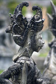 Statue of a female Hindu God in Tirtagangga (Water Palace) in Bali Indonesi — Stock Photo