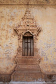 A decorated window of a monastery in Vientiane - Laos — Foto de Stock