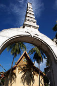 Entrance of a Lao monastery in Vientiane - Laos — Stock Photo