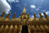 Stairs up the Pha That Luang temple in Vientiane, Laos — Stock Photo