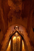 Statue of golden buddha in Ananda Pahto temple in Bagan - Myanmar (Burma) — Stock Photo