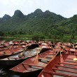 Rowing boats outside the Perfume Pagoda in Vietnam — Stock Photo
