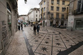 Dom Pedro Square in Lisbon - Portugal — Stock Photo