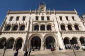 Entrance of Rossio Station in Lisbon - Portugal — Stock Photo