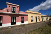 Street with houses in Colonia del Sacramento - Uruguay — Stock Photo