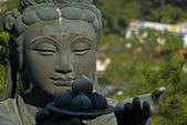 Buddhistic statue praising to the Tian Tan Buddha in Hong Kong — Stock Photo