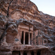 Stock Photo: Temple in Little Petr- World Heritage Site in Jordan