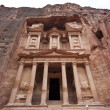 The Treasury in Petra - the famous temple of Indiana Jones in Jordan — ストック写真