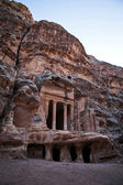 Temple in Little Petra - World Heritage Site in Jordan — Stock Photo