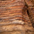 CLOSE UP OF THE ROCKS IN PETRA - AN UNESCO WORLD HERITAGE SITE IN JORDAN. — Stock Photo