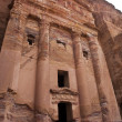 Facade of the Urn Tomb in Petra - Jordan - Stock Photo