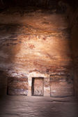Inside the Urn Tomb in Petra - Jordan — Stock Photo