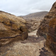 Stock Photo: Petr- path through rocks - Jordan