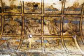 Wandgemälde im amra burg - badehaus - wüstenschloß in jordanien — Stockfoto