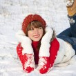 Happy smiling girl in winter — Stock Photo #8441263