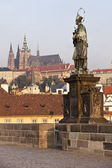 St. John of Nepomuk In Prague — Stock Photo