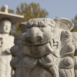 Marble Lion With Buddha — Stock Photo