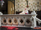 Priest At The Altar — Stock Photo