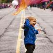 Boy In The Parade — Stock Photo