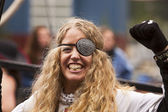 Woman With Eyepatch — Stock Photo