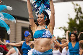 Dancer In Fremont Solstice Parade — Stock Photo