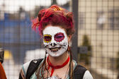 Parade Spectator With Face Paint — Stock Photo